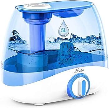 Mooka 5L (1.32Gal) Ultrasonic Cool Mist Humidifier