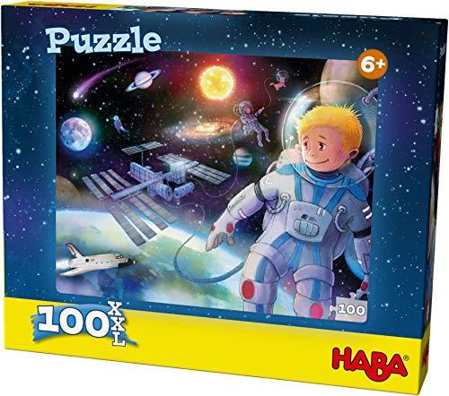 HABA 304219 - Puzzle Weltall, 100 Teile, Puzzle im XXL-Format mit Weltraum-Motiv für Kinder ab 6 Jahren