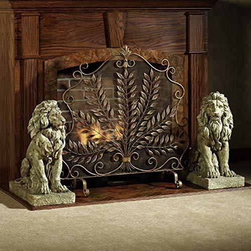 Messing Antik Jahrgang Kamin Feuer-Schirm-Schutz, Mit Metal Mesh Funke Abdeckung Nursery Bildschirm, für Holzofen