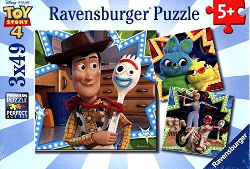 Ravensburger 08067 Disney Pixar Toy Story 4-3 X 49 Piece Jigsaw Puzzles – Vakue Set of 3 Puzzles in a Box