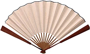 En Blanco Creativo Pintado a Mano Abanico Ventilador japonés Chino cumpleaños o Boda Propio Pintado a Mano patrón de bambú decoración del hogar de Mano (Size : B)