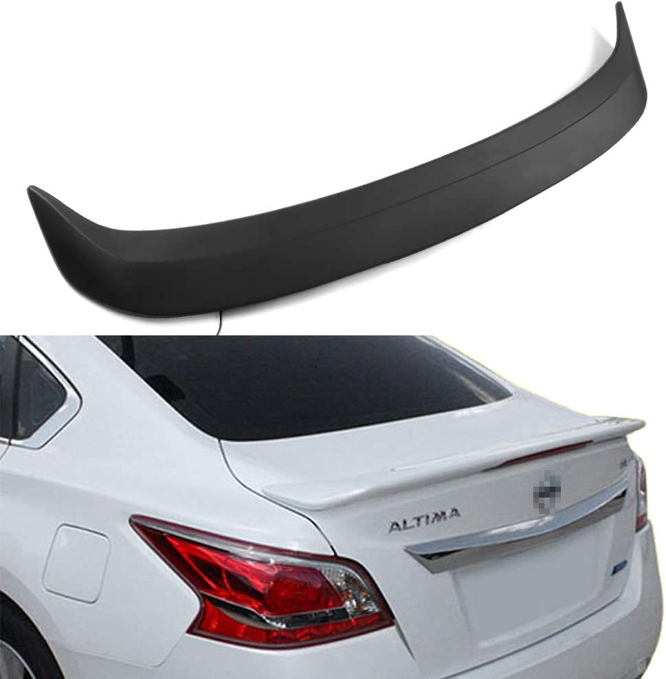 ECCPP 5 popular ABS New item Spoiler Wing Unpainted Matte Rear Trunk Black