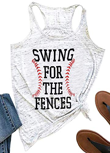 SUNFLYLIG Swing for The Fences Tank Tops for Women Funny...