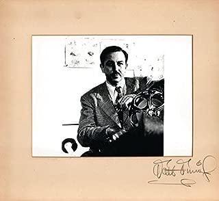 Walt Disney autograph - beautiful signed oversized presentation photo ! RARE