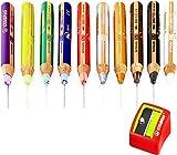 Stabilo Woody 3-in-1-Jumbo-Buntstifte – limitierte Auflage, Gold- und Silber-Set – inklusive Spitzer – 10 Stück -