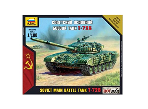 Zvezda 500787400 – 1:100 T-72 Russischer Panzer