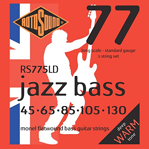 RS 775LD Jazz Saiten 5-st flat f黵 E-Bass 45 - 130 long scale