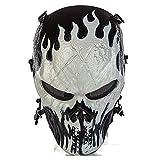 Máscara protectora integral CQJDG para actividades al aire libre como airsoft, pistolas de aire comprimido, juegos tipo paintball y fiestas, con diseño de calavera, Jack-o'-lantern