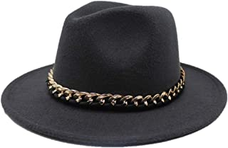 2019 Mens Womens Hats Womens Fashion Wool Polyester Fedora Hat for Women Autumn Cloche Jazz Hat Wide Brim Church Hat Elegant Lady Fascinator Trilby Hat Adjused Size Soft