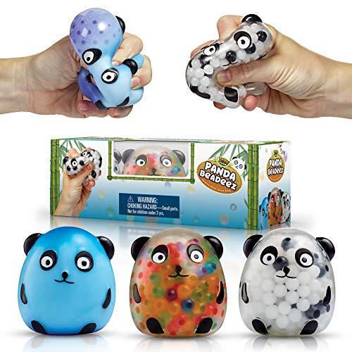 YoYa Toys Beadeez Panda Stress Relief Balls (Set of 3) - Anxiety...