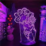 Luz de noche óptica 3D My Hero Academia Figuras de anime Shigaraki Tomura Toys Set Boku No Hero Academia Lampara Modelo Escritorio Juguetes Figura de acción -con control remoto