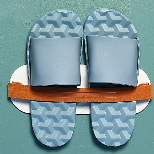 FAYHRH Plage Claquette Sandales pour Couple,Chaussons de Massage à Domicile, Maison d'été féminine à l'intérieur, Couples antidérapants-Bleu Clair_35-36