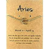Sternzeichen Symbol Armband Armkettchen Horoskop Schmuck Set Gold Zariah (Widder)
