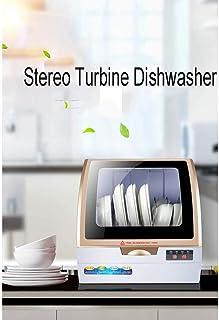 GJJSZ Lavavajillas de sobremesa,lavavajillas pequeño montado en la Pared,Sistema de Doble tormenta de Ducha,Cuatro Opciones de función,Consumo de Agua de Tan Solo 4,4 l/45 * 43 * 37 cm