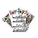Parque de atracciones Negro Roller Coaster Outline Poker Jugar Magic Card Fun Juego de mesa
