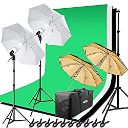 Hakutatz LED Fotostudio Softbox Set Studioleuchte Dauerlicht Fotolicht 90W Bi-Color 2700K 5500K Dimmbar für YouTube Video Foto