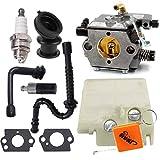HURI Carburateur Filtre à air Bougie d'allumage Set pour Stihl 024 026 MS240 MS260# Walbro WT-194