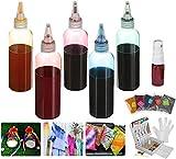 Essort Kit de teñido anudado con colores de arco iris DIY Tie-Dye ropa calcetines sombreros zapatos regalo para niños 5 colores