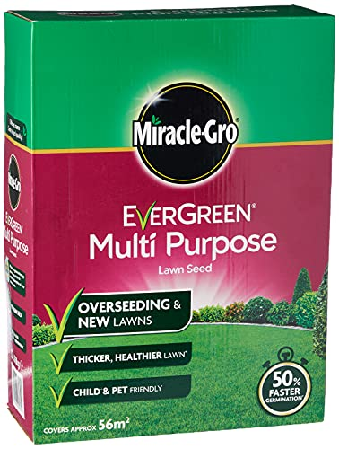 Miracle-Gro 119615 EverGreen Multi Purpose Lawn Seed 1.6 kg - 56 m2, White