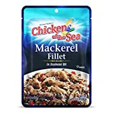 Chicken of the Sea Mackerel Fillet in Soybean Oil, 3.53oz (Pack of 24) – Gluten Free, High in Omega 3 Fatty Acids, Protein & Calcium