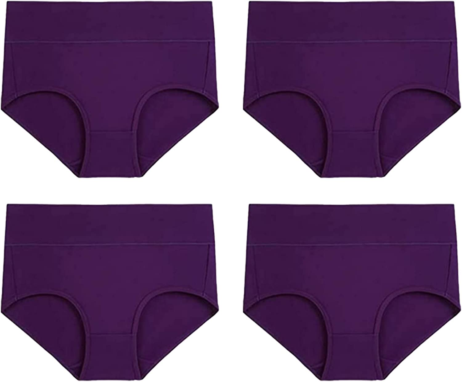 Intimates for Women, Women's High Waisted Cotton Underwear Stretch Briefs Soft Full Coverage Panties
