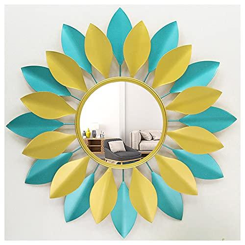 Espejos De Pared, Espejo Decorativo para Colgar En La Pared En Forma De Sol, Espejo De Pared De Metal Sunburst De Arte 3D, para La Sala De Estar, El Baño, El Dormitorio Y La Entrada,B,70CM