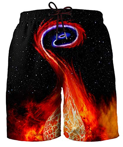 Hgvoetty Space Bathing Suit for Men Funny Galaxy Swim Trunks for Holiday Vacation XXL