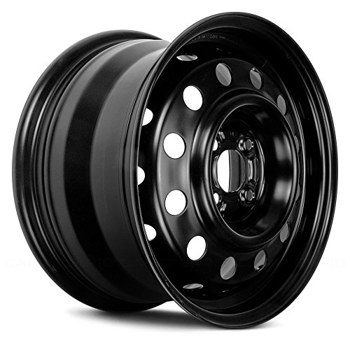 Replacement 12 Round Holes Black Factory Steel Wheel Fits Saturn Ion