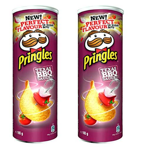 Patatas fritas Pringles (sabor a salsa de barbacoa), 165 g - Pack de 2