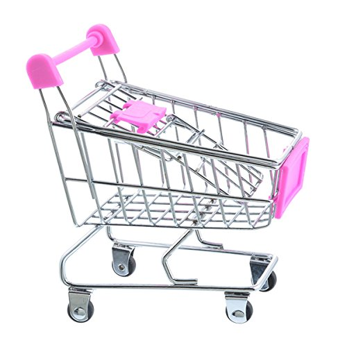 Winkelwagen Craft Decoratie Trompet Supermarkt Trolley Metalen Model Trolley Speelgoed
