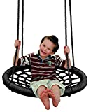 alles-meine.de GmbH Rundschaukel / Netzschaukel - rund - XL Schaukel - bis 100 kg belastbar - für Kinder & Erwachsene - Seile 18 mm stark - Swing Schaukel - Tellerschaukel - Nest..