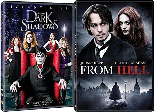 Johnny Depp From Hell DVD & Dark Shadows Tim Burton Fantasy Action Bundle Double Feature set