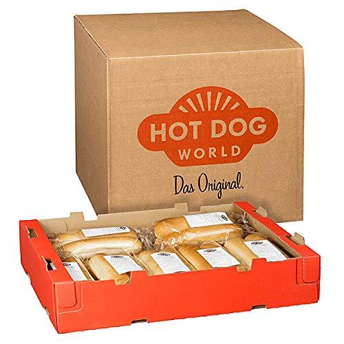 HOT DOG WORLD - Jumbo Hot Dog Brötchen 140 x 80 g -vorgeschnitten-