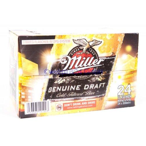 Miller Genuine Draft Beer Glassflasche inkl. DPG Pfand 24 x 330 ml