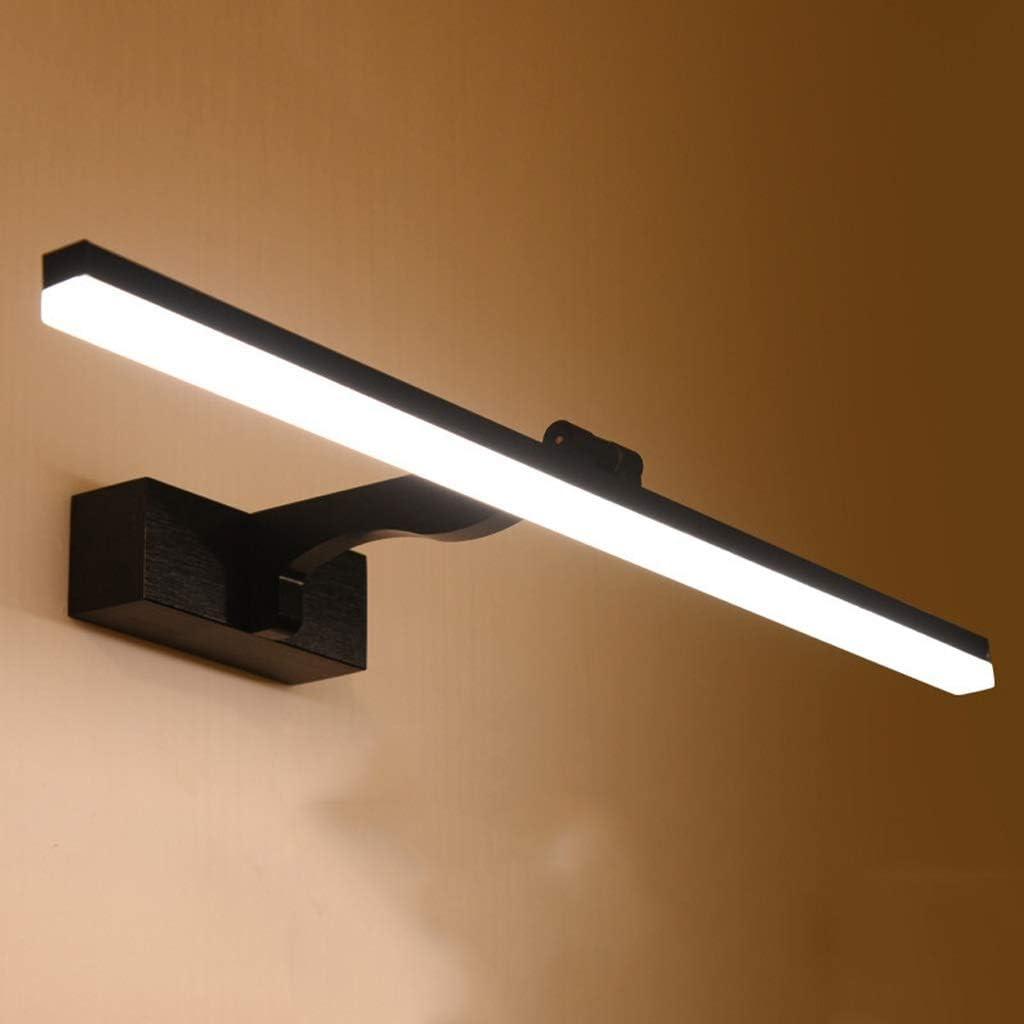 ,Spiegelleuchte Spiegel Front Licht-LED Spiegel Kabinett Licht Badezimmer Bad Wasserdicht Anti-fog-Rost Einfache Moderne Nordische Brille Frontleuchte Schwarz .Spiegellicht White Light-100cm
