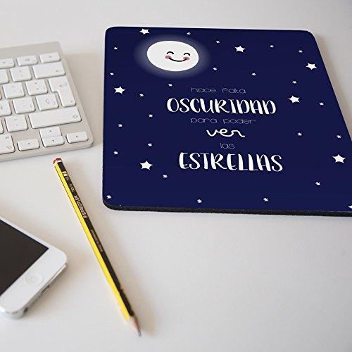 Alfombrilla para ratón regalo original diseño frase Hace falta oscuridad para poder ver las estrellas