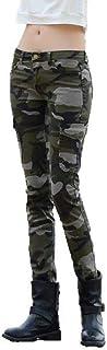 NQFL Pantalones Casual Denim Jeans Manera Europea y Americana Delgado Calle Camo lápiz de Las Mujeres (Color : Camouflage,...