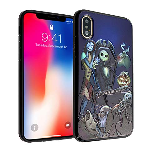 iPhone Xs Case, IMAGITOUCH Anti-Scratch Shock Proof Clear Case Soft Touch Slim Fit Flexible TPU Case Bumper Cover for iPhone X iPhone Xs -The Nightmare Before Christmas