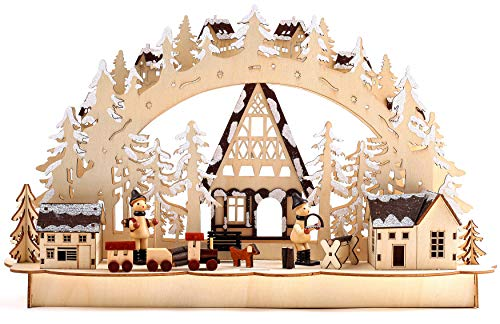 BRUBAKER Christmas LED Light Arch - Winter Landscape - 17.1 x 10.6 x 4 Inches