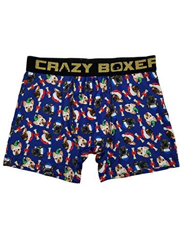 Crazy Boxer Mens Christmas French Bulldogs Boxer Briefs Underwear Size XL