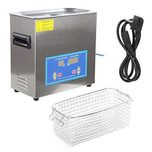 360HTD ultrasone reinigingsmachine, digitale tijdverwarmingsreiniger, 6,5 l voor meerdere doeleinden, voor het reinigen van glazen, halskettingen, oorbellen EU Plug 200-240V