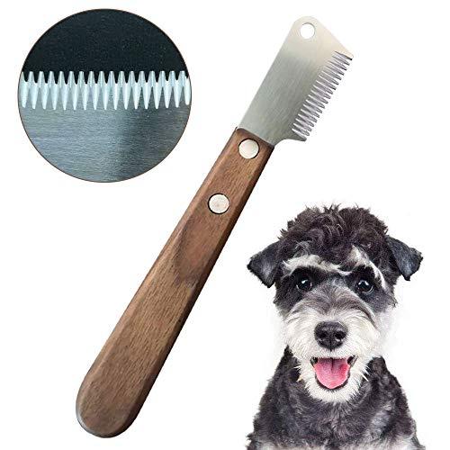 onebarleycorn - Professional Trimmmesser,Trimm Messer Pflegemesser für Unterwolle Ergonomisch Geformtem Griff für Linkshänder