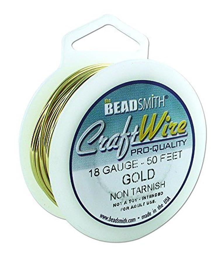 Beadsmith Non Tarnish Craft Wire (18, Gold)