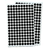 Pack de 3000, 1cm Gomets Colores Pegatinas Redondo Adhesivos - Negro