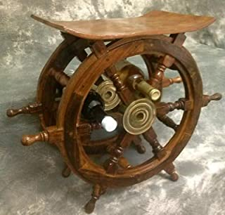 ship wheel wine rack