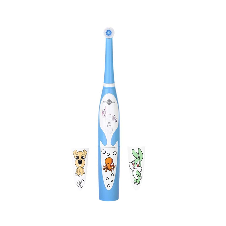 クーポン腹服を片付ける電動歯ブラシ 赤ちゃんの歯ブラシを回転させる子供のスマート音楽電動歯ブラシクリーニング保護ガム剛毛 (色 : ピンク)