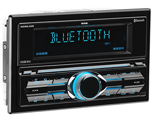 Sound Storm DDML28B Multimedia Car Stereo - Double Din, Bluetooth Audio and Hands-Free Calling, MP3 Player, USB Port, AUX Input, AM/FM Radio Receiver, No CD/DVD Player