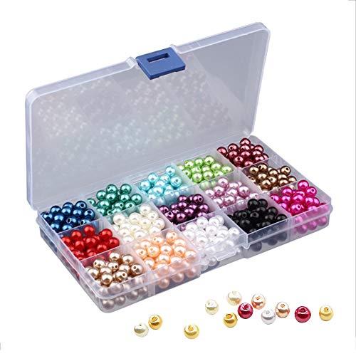 Cuentas Colores, 1500 Piezas 6mm Perlas Abalorios