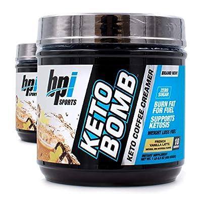BPI Sports Keto Bomb Ketogenic Creamer for Coffee and Tea, 18 Servings