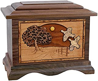 Wood Cremation Urn - Walnut Quail Ambassador